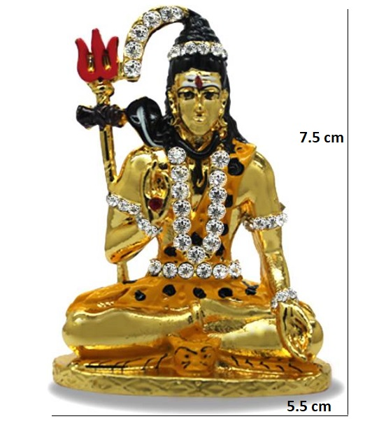 Car Dashboard Idol For Pooja Shiva Metal Color Golden