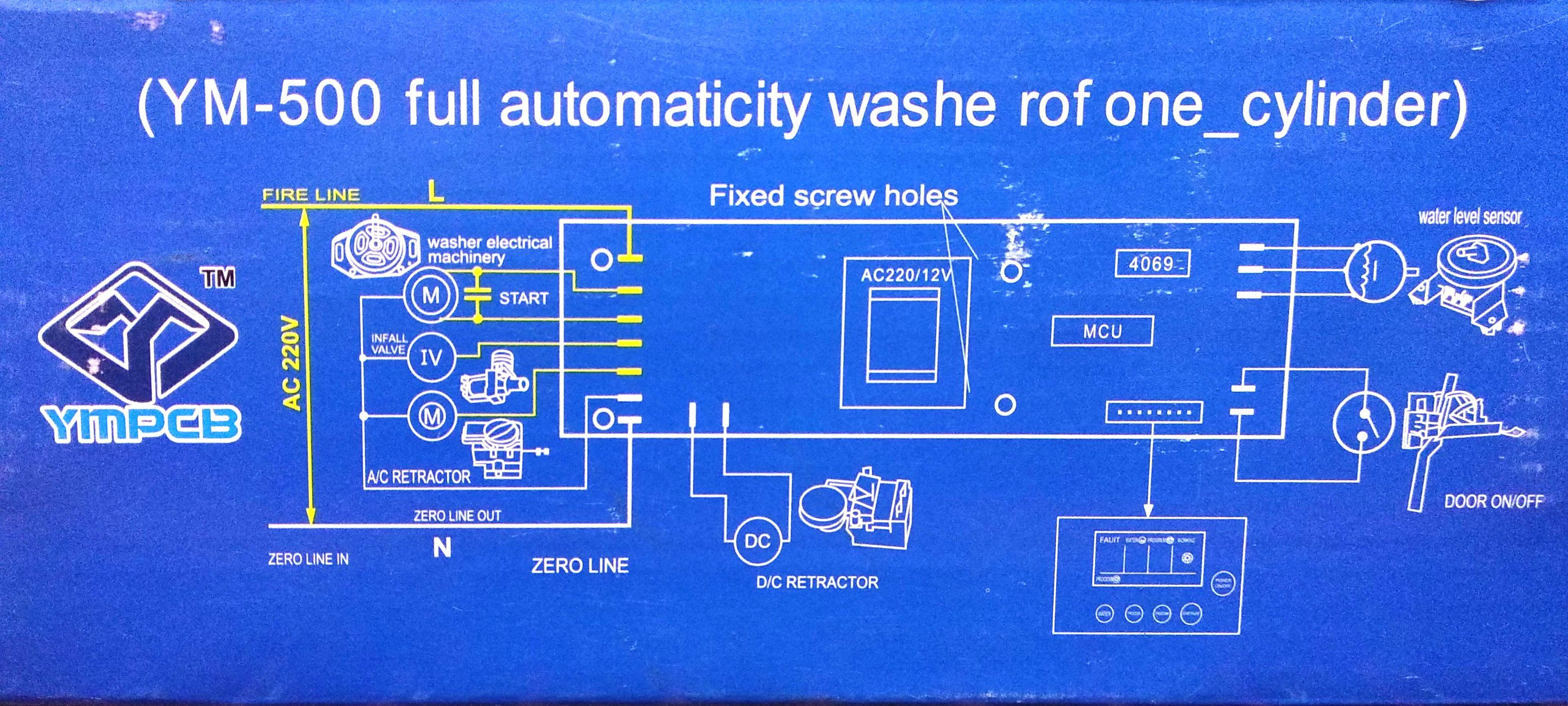 Washing Machine - Universal Main-board PCB for Fully Automatic Top Load  washing Machines - YM-500